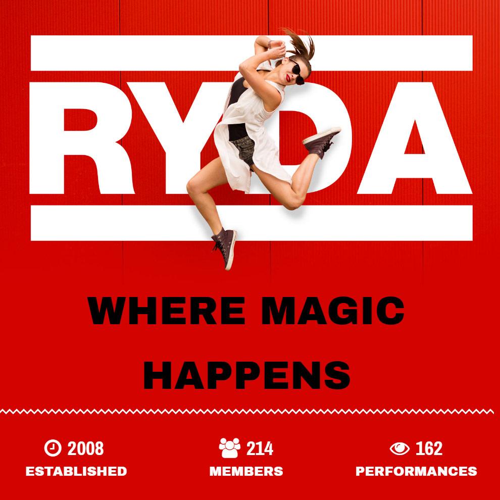 Rutland Youth Dance Academy website design