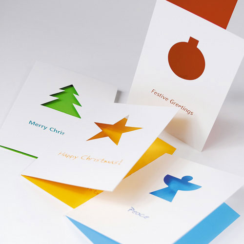 shaped christmas cards print