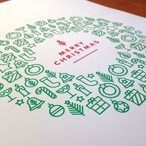 simple christmas card print